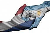 Handshake Between Netherlands And Argentina