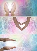 Healing hands website banners