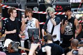 NEW YORK-JUL 22: (L-R) Luke Hemmings, Ashton Irwin, Michael Clifford and Calum Hood of 5 Seconds Of