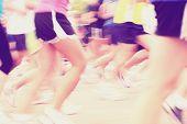 Marathon motion blur