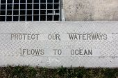 Protect our Waterways Kerb sign