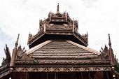 Art Of Gable Apex In Thai Temple