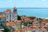 Rooftops And Church Of Santo Estevao, Lisbon (portugal)
