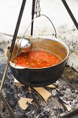 Goulash In Cauldron