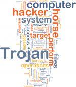 Concepto de Trojan fondo de computadora