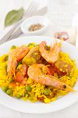 Rice With Seafood, Chicken And Vegetables