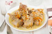 Boiled Rabbit With Carrot On Plate