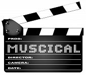 Musical Movie Clapperboard