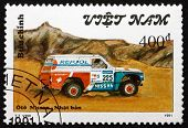 Postage Stamp Vietnam 1991 Nissan, Rally Car