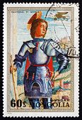 Postage Stamp Mongolia 1972 St. George, Painting By Mantegna