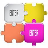 Enter. Raster puzzle.