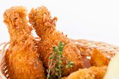 Crisp Crunchy Golden Chicken Legs And Wings