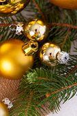 Golden Christmas Decoration Background