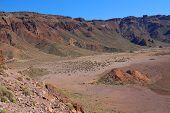 deserted landscape of teide national park on tenerife, canary islands, spain