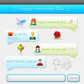 illustration of Happy Friendship Day message in social media application