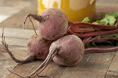 Fresh raw beetroots