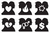 Human Relationship Icon Set