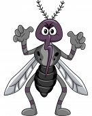 Mascot Illustration Featuring a Mosquito in a Scary Pose