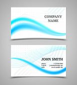 Modern Light Business Card Template With Color Waves