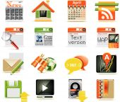 Vector web page icon set