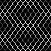 stock photo of octagon shape  - Steel Wire Mesh Seamless Background - JPG