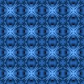 Seamless fractal pattern in a blue colors