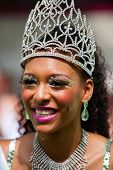 ROTTERDAM, THE NETHERLANDS - JULY 19, 2014, Queen of the Summer Carnival street parade in Rotterdam on July 19 in Rotterdam, The Netherlands