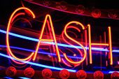 neon cash sign