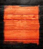 orange wood wall textured background