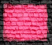 pink brick wall textured background