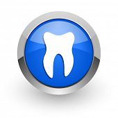 tooth blue glossy web icon