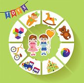 Circle vector children infographic.