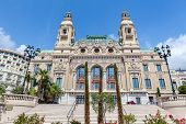 MONTE CARLO, MONACO - JULY 13, 2013: Facade of famous Salle Garnie - opened in 1879 gambling and ent