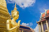 Buddha Sculpture Grand Palace Also Calles Wat Phra Kaew In Bangkok, Thailand Temple.