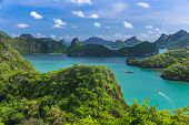 Bird Eye View Of Sea Thailand, Mu Ko Ang Thong Island National Park