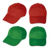 Blank Red And Green Baseball Caps