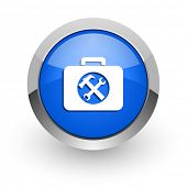 toolkit blue glossy web icon