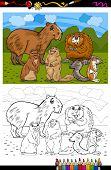 Rodents Animals Cartoon Coloring Book