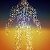 Cyborg - the futuristic humanoid creature