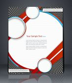 Vector Layout  Flyer, Magazine Cover, Template Or Corporate Banner Design