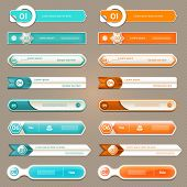 Modern infographics options banners. Vector illustration. can be used for workflow layout diagram nu