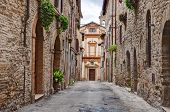 Old Alley In Bevagna, Umbria, Italy