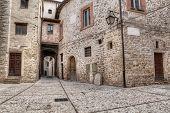 Antique Alley In Spoleto, Umbria, Italy