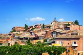Ancient village of Roussillon in Provence, France.