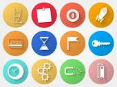 Vector circle icons for outsource