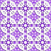 Geometric Ornament With Violet Seamless