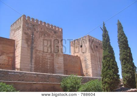 poster of Alhambra Palace in Granada city, Spain