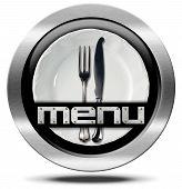 Restaurant Menu - Metal Icon