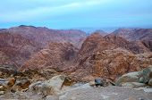Egypt, Sinai Mountains, Morning View