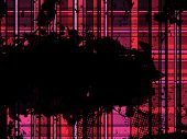 Checkered Pink Grunge Background. Editable Vector Illustration